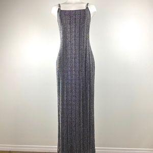 Vintage Silver Spaghetti Strap Gown
